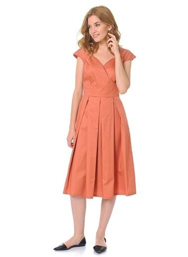 Pileli Kolsuz Elbise-Jus De Pommes